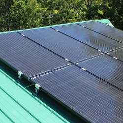 solar panel system on roof