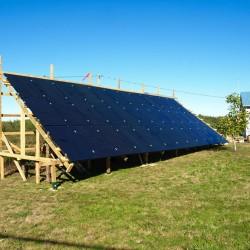 solar panel system on ground