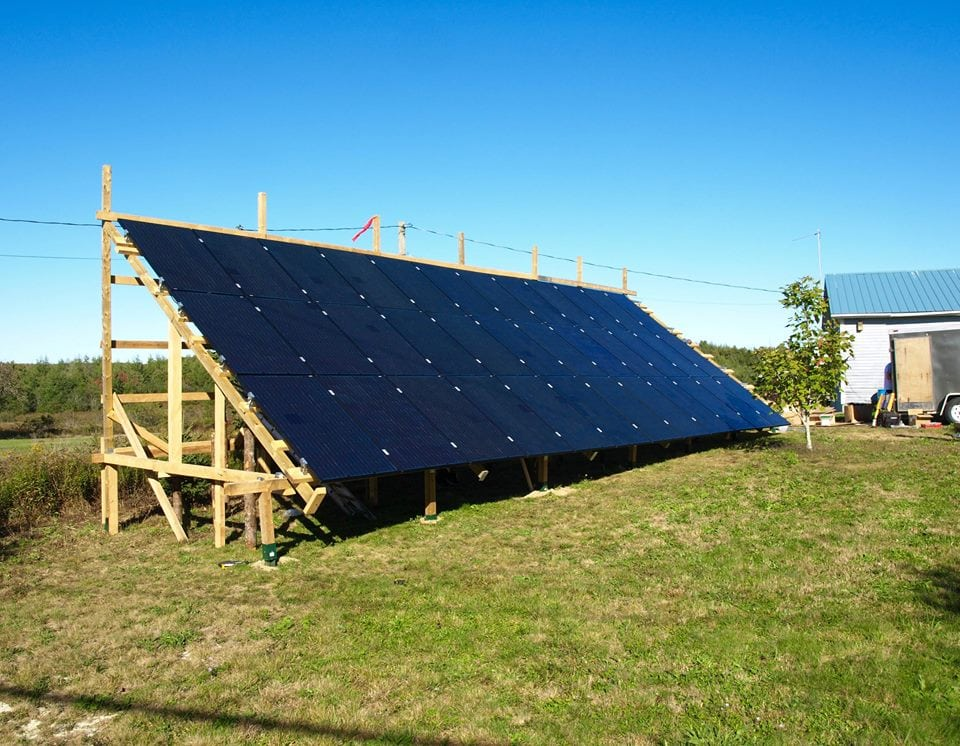 solar panel system on ground